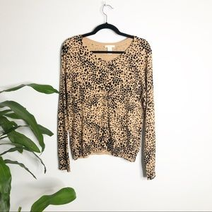 H&M┃Leopard Animal Print Button Down Cardigan